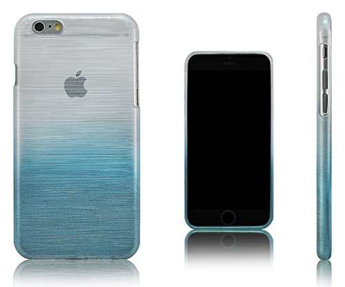 Xcessor Transition Farbe Flexible TPU Case Schutzhülle für Apple iPhone 6. Mit Gradient Silk Gewinde Textur. Transparent / Grau Transition / Hellblau