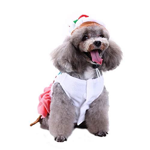 PanDaDa Haustier Hund Interessante Lebensmittel Form Kostüm Lustige Kuchen Sushi Pizza Cosplay Kleidung