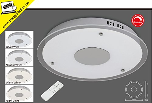 TG3090 LED Farbsteuerung Deckenleuchte Badleuchte mit Fernbedienung stufenlos dimmbar - Farbsteuerung von 3000 bis 6500 Kelvin nach Wunsch einstellbar