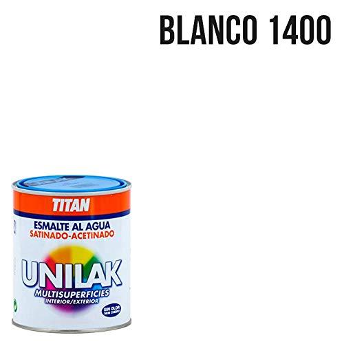 Titan M3527 - Esmalte agua unilak satinado blanco