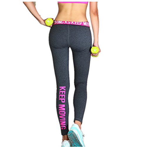 Y & X Pantaloni sportivi Yoga ghette calzamaglia Workout Pant delle donne in esecuzione Pant Nero/Bianco