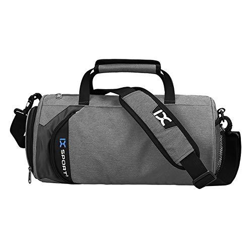 Sporttasche Im Freien Sporttasche Große Kapazität Zylindrische Yoga -Schwimmtasche Eingangstasche Handtaschen,Dunkles Grau
