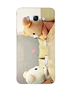 Snazzy Teddy Bear Printed Multicolor Soft Silicon Back Cover For Samsung Galaxy J7 2016