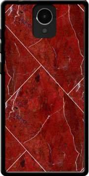 MOBILINNOV Archos Core 50 Minimal Marble Red Silikon Hülle Handyhülle Schutzhülle - Zubehor Etui Smartphone Archos Core 50 Accessoires