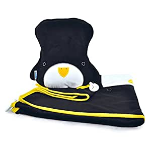 Trunki SnooziHedz Travel Pillow and Blanket - Pippin the Penguin (Black)