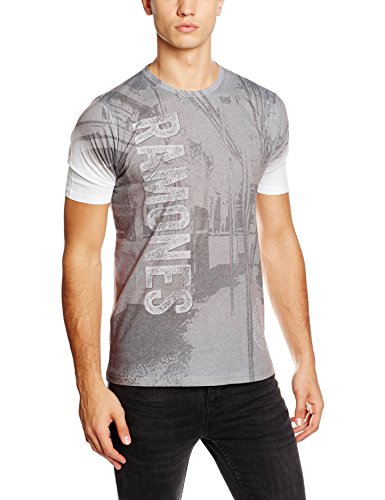 Rockoff Trade Herren T-Shirt Ramones Subway Sublimation Mehrfarbig