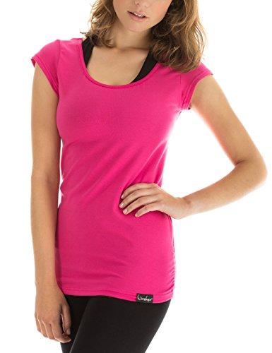 Winshape Damen Kurzarmshirt WTR4 Fitness Freizeit Yoga Pilates,Rosa(Pink),L