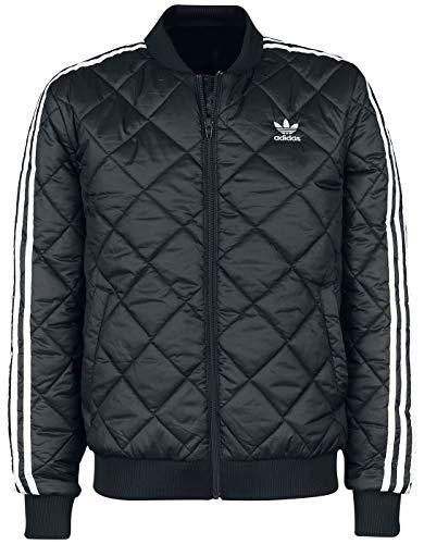 adidas Herren SST Quilted Jacket, Schwarz, L
