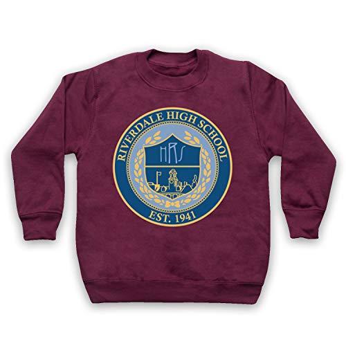 Inspired Apparel Inspiriert durch Riverdale High School Logo Inoffiziell Kids Sweatshirt, Burgund, 9-11 Jahren -