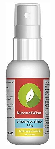 Spray De Vitamina D Nutrient WiseTM - Suplemento - Sabor Menta - 50ml