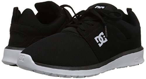 DC Heathrow Skate Shoe, Black/Grey/Green, 14 M US Black (bkw)