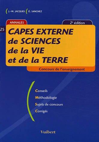CAPES externe de Sciences de la Vie et de la Terre par Jean-Marc Jacques