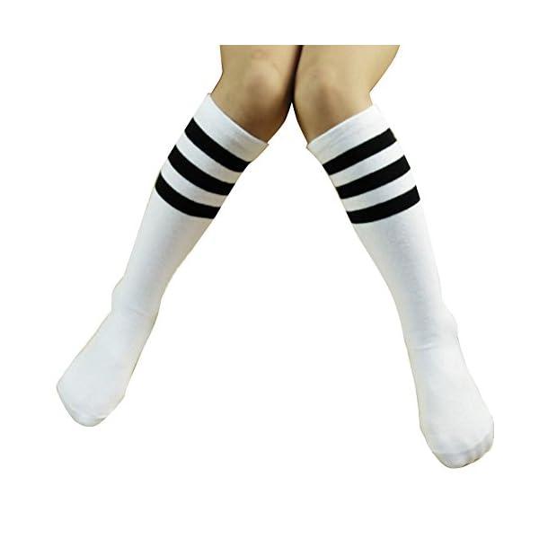 TININNA niños niñas niños rayas algodón Tubo de rodilla alta calcetines Medias calcetines calentadores de la pierna… 1