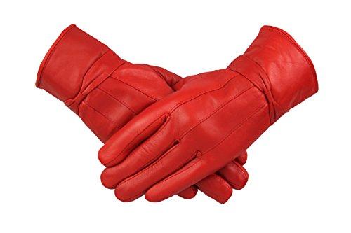 By Neki - Guantes - para mujer Rojo rosso Medium