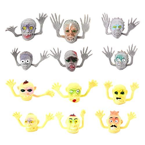 Amosfun 20 STÜCKE Cool Ghost Fingerpuppe Halloween Monster Puppet Spielen Pädagogische Puppe Hand Spielzeug Kinder Fingerpuppen Kinder Geschenke Halloween Spielzeug Zufälligen Stil