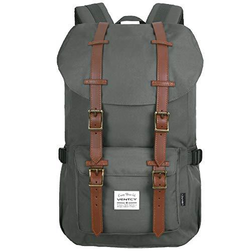 Ventcy Studenten Rucksack Casual Uni Rucksack Herren Backpack 15,6 Zoll Laptop Rucksack Jungen Daypack Wasserabweisend Unisex für Freizeit Outdoor Reise 23L