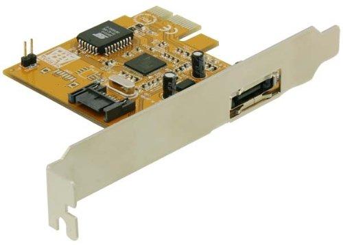 DeLock PCI Express Kontroller Karte 1x eSATA, 1x SATA - Esata-karte