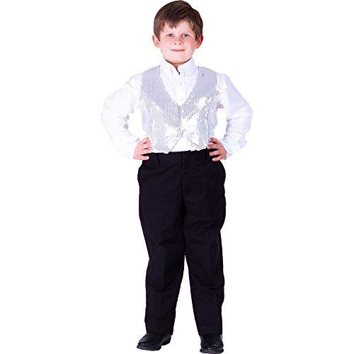 Dress Up America Kinder Silber Paillettenweste (Jacke Erwachsene Darsteller)