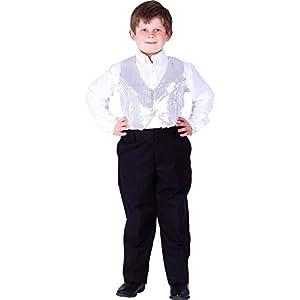 Dress Up America Chaleco de Lentejuelas de Plata niños