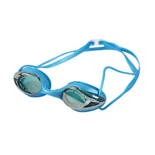 Diapolo Aurora Schwimmbrille mit verspiegelten Gläsern für Damen und Herren, perfekt für den Innen- und Außenbereich für professionelle Zwecke (Hellblau)