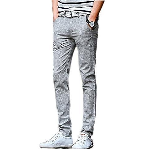 Laixing Qualité Men's Trousers Cotton Slacks Summer Slim Casual Pants UK516