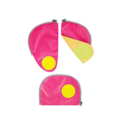 ERGOBAG Pack Sicherheitsset Fluoreszierende Zip-Flächen, 23cm, Rosa Rosa Zip
