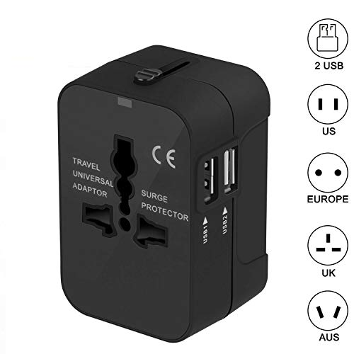 ETbotu,Power Outlet,Universal Adapter,International Power Outlet Stecker 2 USB Sony Electronics Outlet