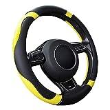 SFONIA Car Steering Wheel Cover Steering Wheel Protector Microfiber Leather Universal 37-38cm /