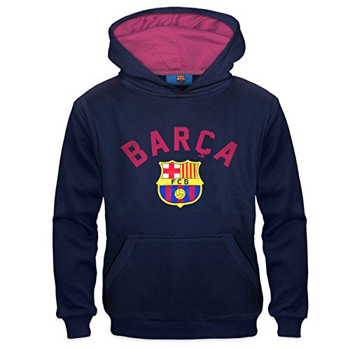 FC Barcelona Official Football Gift Boys Graphic Fleece Hoody 10-11 Yrs LB