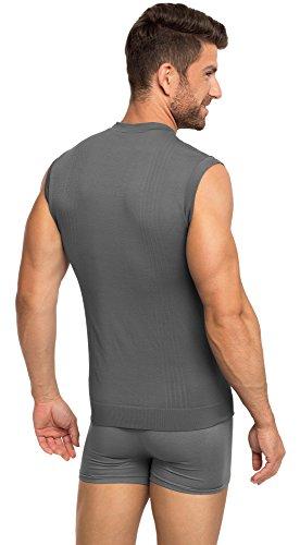 Ladeheid Herren Unterhemd 05 3 Graphite