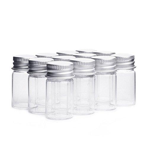10pcs/7ml muestra de botellas de cristal vacías tarros viales Case Contenedor con tapones de rosca, transparente