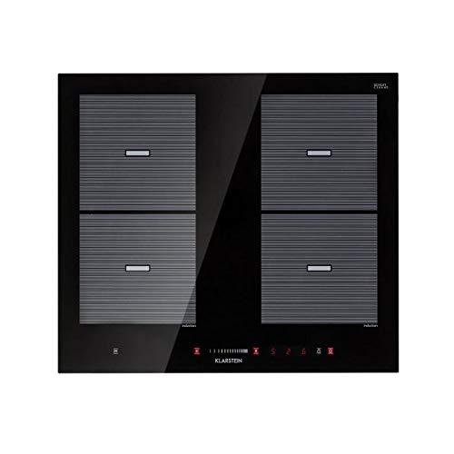 Klarstein Virtuosa Flex 60 Placa de inducción - 4 zonas de cocción, 7200W, Vitrocerámica, Encastrable...
