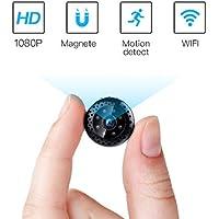 FREDI HD1080P WIFI telecamera Spia videocamera nascosta Microcamera Wireless Mini Camera spia microtelecamera wifi Hidden Spy Cam Videocamera di sorveglianza Interno IP telecamera di sorveglianza con Visione notturna/Rilevamento del movimento IP telecamera di sorveglianza Interno Per Iphone Android PC
