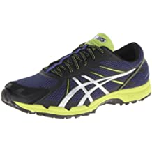 Zapato de trail running para hombre Gel Fuji Racer 3, Navy / Silver / Lime Punch, 6 M US