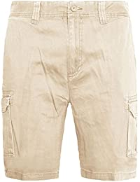 New Mens Cargo Combat Chino Shorts Half Pants Cotton Summer Knee Length Bottom