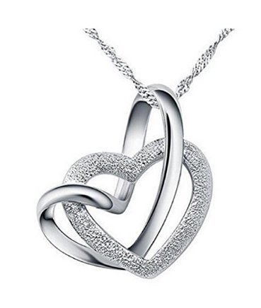 Arpoador Halskette Schmuck Herz mit Herz Anhänger Urlaub Geschenk Kostüme Eternal Love 1