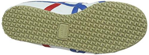 Onistuka Tiger Mexico 66 Unisex-Erwachsene Sneakers Weiß (WHITE/BLUE 0146)