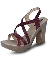 Get Glamr Women's Red Sandals (Get (Get-1772) - 5 UK