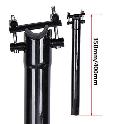 QIKU Carbon-Farbe Sattelstütze 27.2mm / 30.8mm / 31.6mm für Fahrrad MTB Rennrad (27.2 * 350mm) -