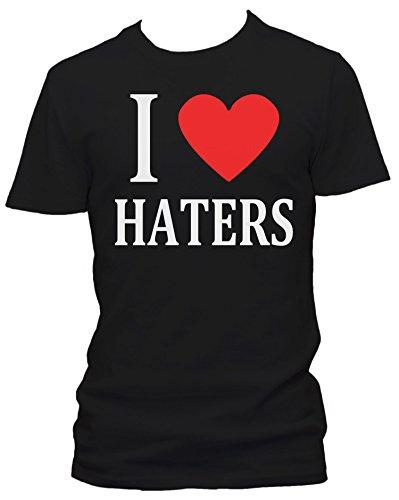 I love Haters FUN Herren T-Shirt, Größe:XL;Farbe:schwarz