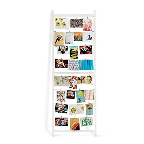Umbra 315001-660 Photo Display Standit Multibilderrahmen zum anlehnen, Holz, weiß