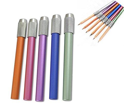 Cosanter 2 Stück Stiftverlängerer Bleistift Pencil Extender Halter Bleistiftverlängerung, Länge...