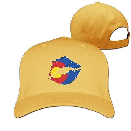 Suxinh Baseball Caps Colorado Lips Golf Dad Hat Mans Womans Vintage Snapbacks Cap Black - Spf 15 Lip Protection