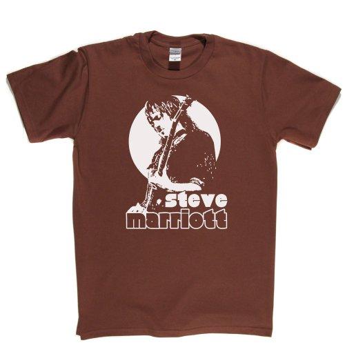 Steve Marriott English Musician Rock and Roll T-shirt Braun