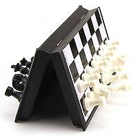 Baoblaze-Tragbar-Magnetisches-Schach-Schachspiel-Satz-1-Faltbare-Schachbrett-32-Schachfiguren Tragbar Magnetisches Schach Schachspiel Satz – 1 * Faltbare Schachbrett + 32 * Schachfiguren – Klein -
