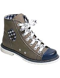 Spieth & Wensky Damen Sneaker Jacky helloliv/blau rustikal, helloliv/blau,