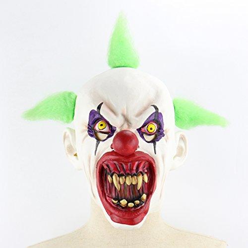 Teufel Kostüm Haar - Halloween Latex Maske Gruselige Blut Mund Clown Mit Grünem Haar 3D Beängstigend Teufel Neuheit Kostüm Partei Cosplay Requisiten Rollenspiel Spielzeug