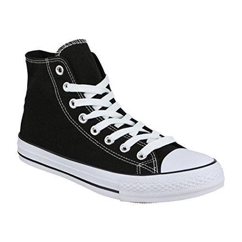 Elara Unisex Sneaker | Damen Herren | High Top | Chunkyrayan ZY9024-12 Black-45