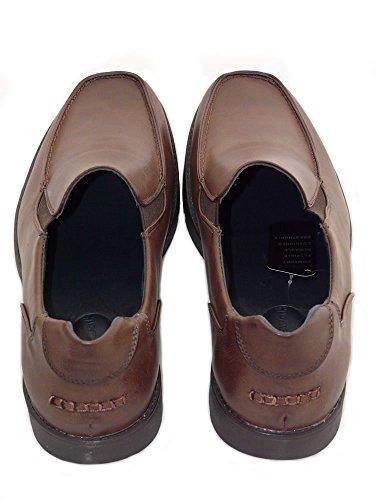 Chaussures homme, de travail, d'uniformes habillées, de mariage - 3 Modèle: Avec Lacets, Sans Lacets, Avec Pampille - Noir et Brun Brun sans Lacets