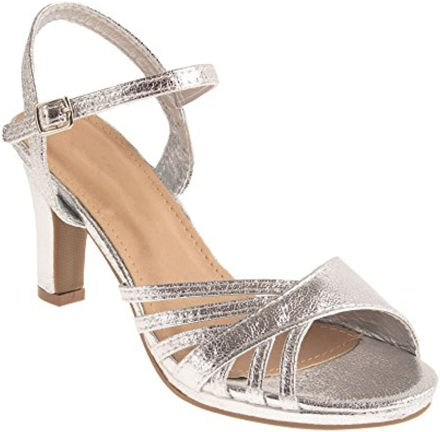 Chaussures Mariage Mariage Mariage Femme argentées